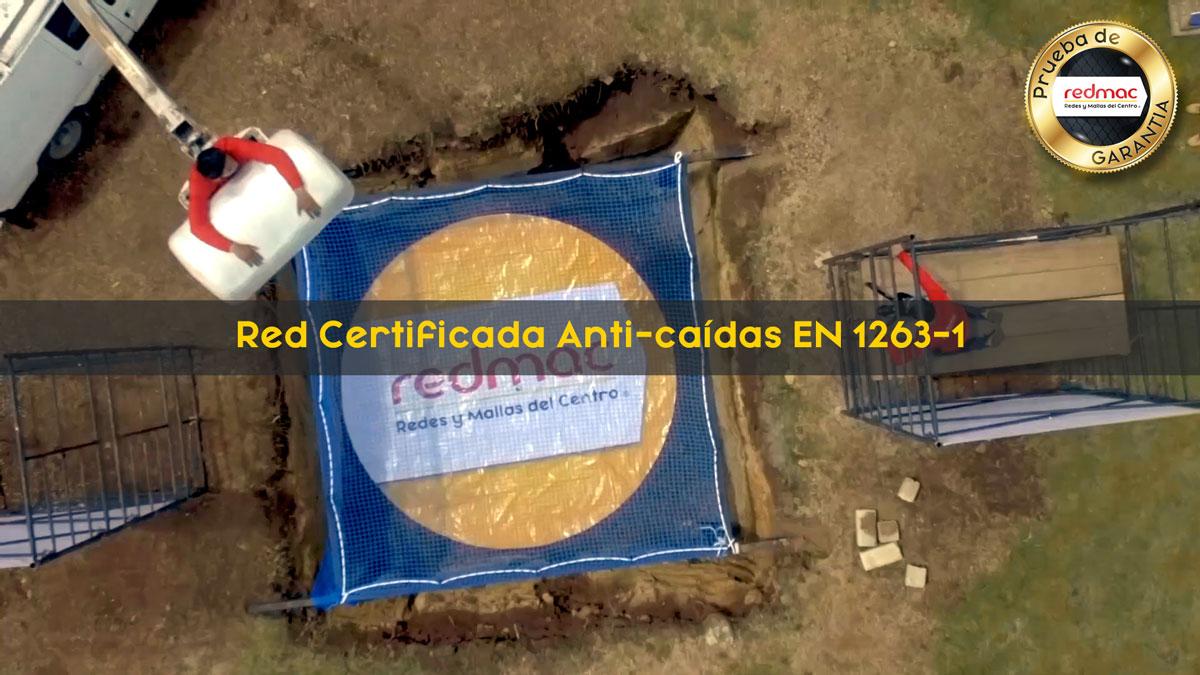 Red Certificada Anti-caídas EN-1263-1 Prueba de Garantia REDMAC